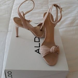 Nude Knoted Strappy Sandal